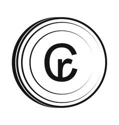 Cruzeiro icon simple style vector image