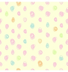 Colorful seamless pattern with hand drawn vector image