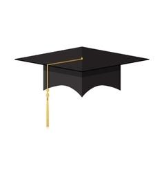 Cademic graduation cap student hat vector