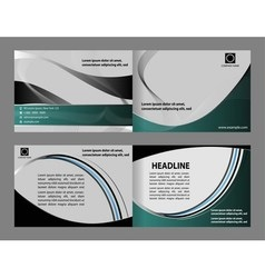Abstract design template layout for magazin vector image
