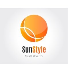 Abstract sun logo template for branding and vector
