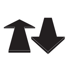 Arrow up and down vector