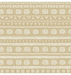 Beige and white mudcloth african ethnic geometric vector image vector image