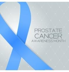 Blue Ribbon Symbol of World Prostate Cancer vector image