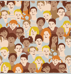 children crowd group multinationals seamless vector image vector image