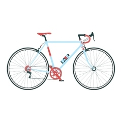 Classic town road bicycle detailed vector