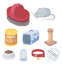 collar pet food and other products pet shop set vector image vector image