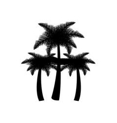 dark contour palms icon vector image
