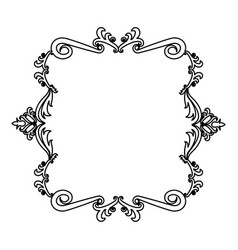 decorative frame floral border crest royal element vector image