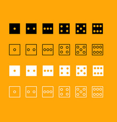 Dice nubes set black and white icon vector