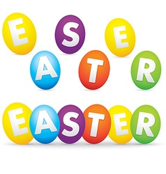 easter day with eggs vector image vector image