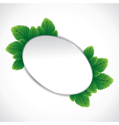 eclipes sticker around green leaf stock vector image vector image