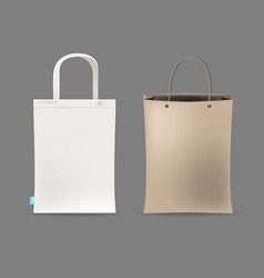 empty shopping bag couple vector image vector image