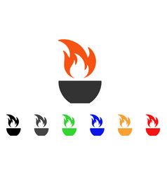 fire bowl icon vector image