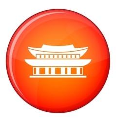 Gyeongbokgung palace seoul icon flat style vector