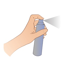 Hand Spraying vector image vector image