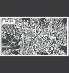 La paz bolivia city map in retro style vector