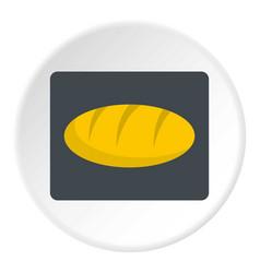 Loaf bread icon circle vector
