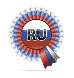 national flag badge RU vector image vector image