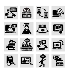 online education icons vector image