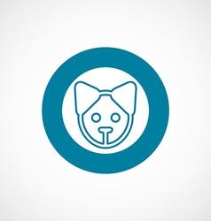 Puppy icon bold blue circle border vector