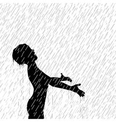 Rain boy vector