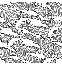 Sea seamless pattern with abstract hand drawn vector image