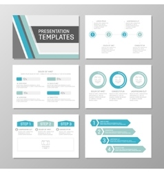 Set of blue and turquoise template for vector