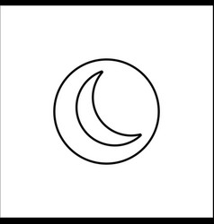 Sleep mode line icon mobile sign and new moon vector