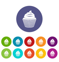 small candy icons set flat vector image vector image