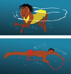swimming techniques vector image