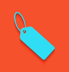 Tag sign whitish icon on vector