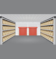 warehouse interior vector image vector image