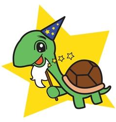 Wizard turtle vector