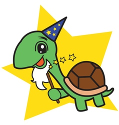 Wizard Turtle vector image vector image