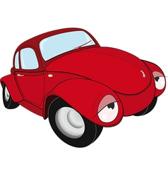 The toy red car vector