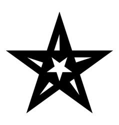 Geometric figure star icon simple style vector