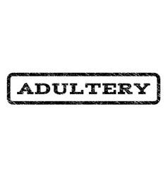 Adultery watermark stamp vector
