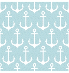 Seamless pattern with anchors vector