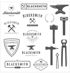 Collection of logo elements and logotypes for vector