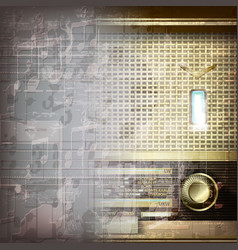 Abstract grunge gray music background with retro vector