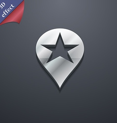 Map pointer award gps location icon symbol 3d vector