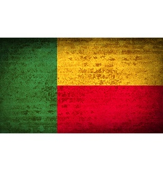 Flags benin with dirty paper texture vector