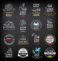 Buffet menu restaurant design all you can eat vector