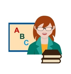 Teacher female vector