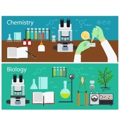 Chemistry and biology vector