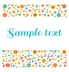 Empty blank with funny colored design elements vector