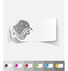 Realistic design element sandwich vector