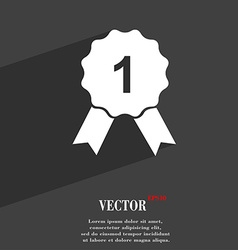 Award medal symbol flat modern web design with vector