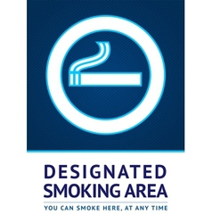 Label smoking area sticker vector image
